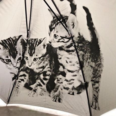 【日傘 猫ちゃんシリーズ】傘専門店 通販 東京 遮光遮熱 晴雨兼用 ワンタッチ UV レディース メンズ 旅傘【Pink ベンガル】