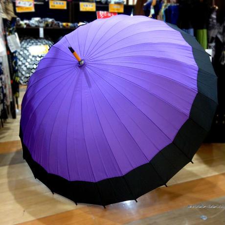 60㎝ 傘専門店 通販 東京 メンズ レディース 雨傘 サビにくい 旅傘【蛇の目 24本骨 薄紫】