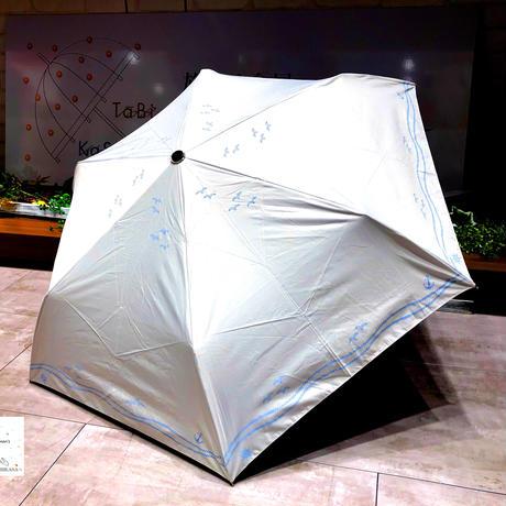 【折 日傘】傘専門店 通販 東京 折りたたみ傘 日傘 雨傘 晴雨兼用 遮光 遮熱 旅傘【清涼効果 Kamome White】