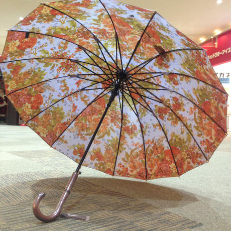 【リクエスト品】傘専門店  通販  東京  雨傘  ワンタッチ  ジャンプ  グラスファイバー  サビない  旅傘  【16本骨  ゴブラン風】