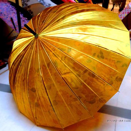 プレゼントへ 傘専門店 通販 東京 レディース 雨傘 サビにくい 丈夫 旅傘【サテン  16本  Gold】