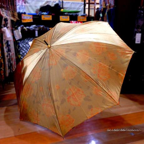 内花シリーズ 傘専門店 通販 東京 雨傘 ワンタッチ ジャンプ 黒骨 サビにくい 軽量 旅傘【サテンFlower  黄】