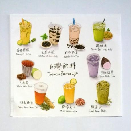 【BYC】マルチクロス(メガネふき)「台湾飲料」
