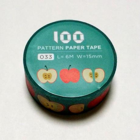 台湾マスキングテープ「りんご」