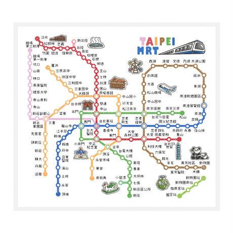 【BYC】マルチクロス(メガネふき)「MRT路線図」