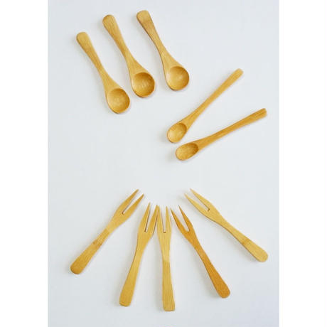 竹製ミニカトラリー