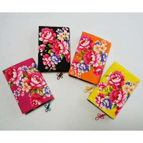 台湾花布ブックカバー(カラー2)