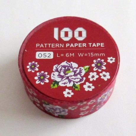 台湾マスキングテープ「客家紅布花」