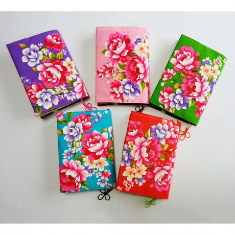 台湾花布ブックカバー(カラー1)