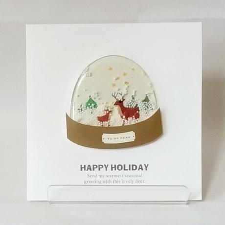 クリスマスカード「スノードーム」