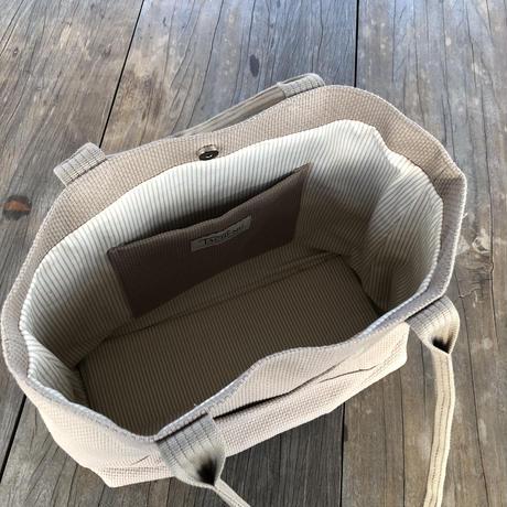 BASICトートバッグ(L) ベージュ ※タッセルチャーム2個付