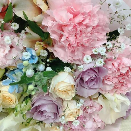 優しい色の花束
