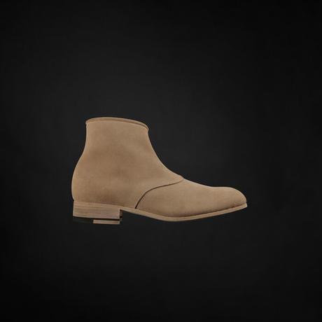 women's ZIP UP BOOTS beige [size sample]