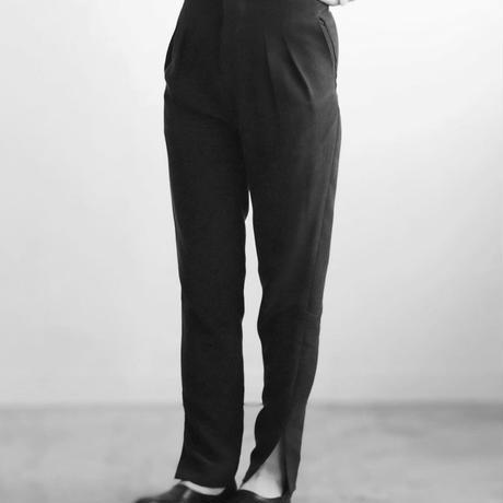 SILK LOUNGE PANTS black