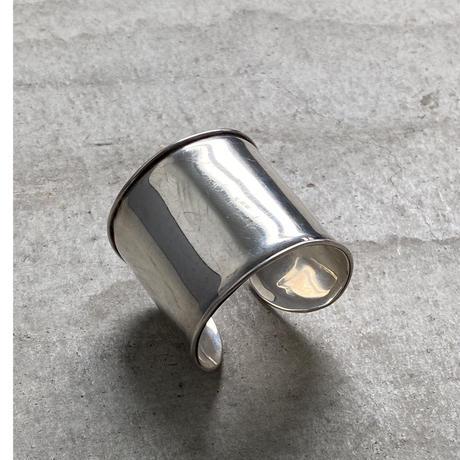 vintage silver wide bangle 1