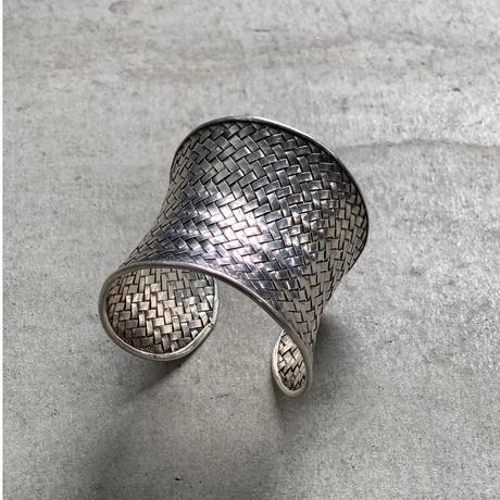 vintage silver wide bangle 2
