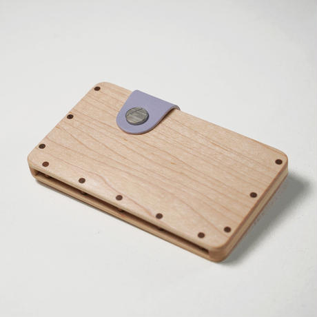 a card case 【メープル】  - 木と革の名刺入れ -