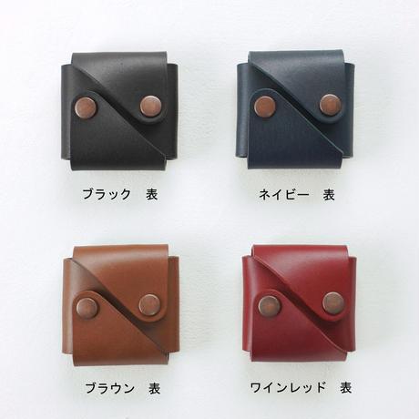 coin case【オーク】 - 木と革のコインケース -