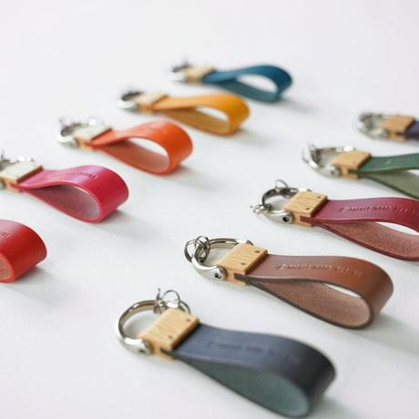 key holder【オーク】 - 木と革のキーホルダー -