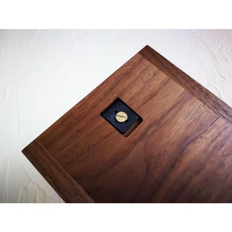 MUKU storage box  half【ウォールナット】 -木と革の収納箱-