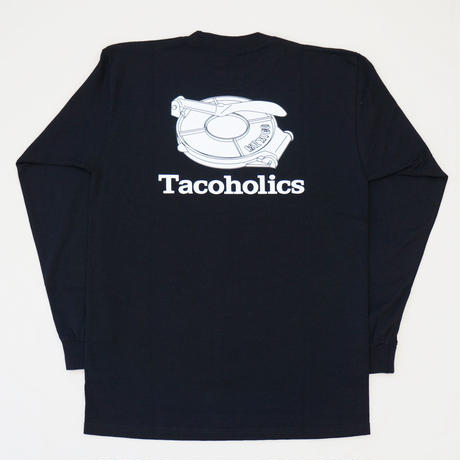 LONG SLEEVE TEE 6.5oz  Tacoholics (Black)