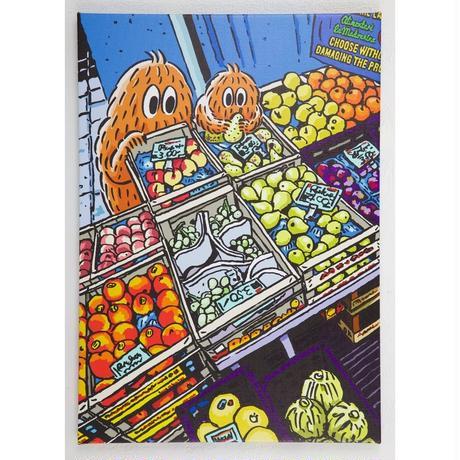 キャンバスプリントA2サイズ-Fruit Shop-
