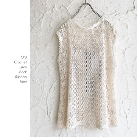 Crochet Lace Back Ribbonベスト