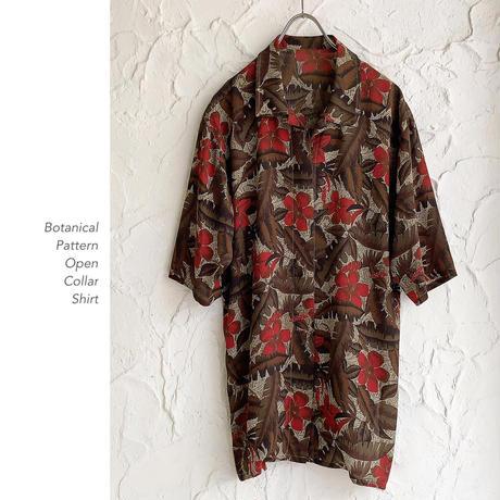 Vintage Botanical Patternシャツ