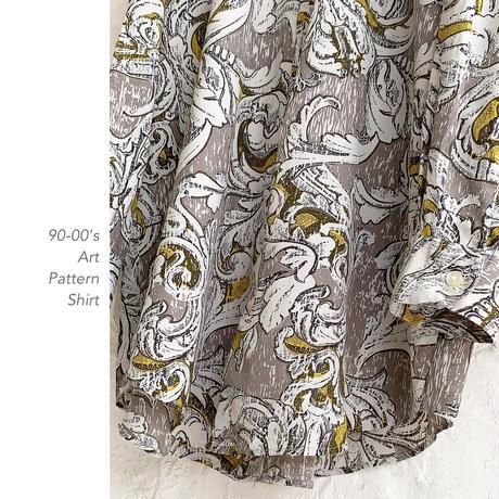 90-00's Art Patternシャツ