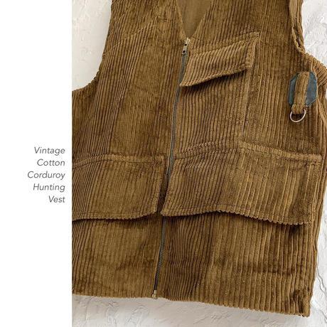 Vintage Cotton Corduroy ハンティングベスト