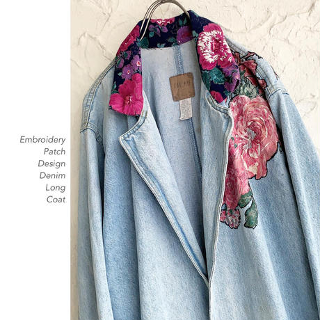 Embroidery Patch Design デニムLongコート
