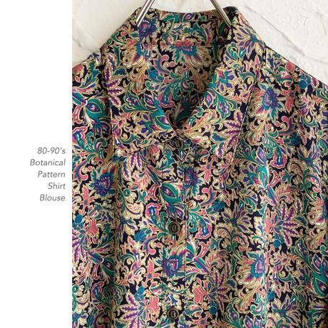80-90's Botanical Patternシャツ