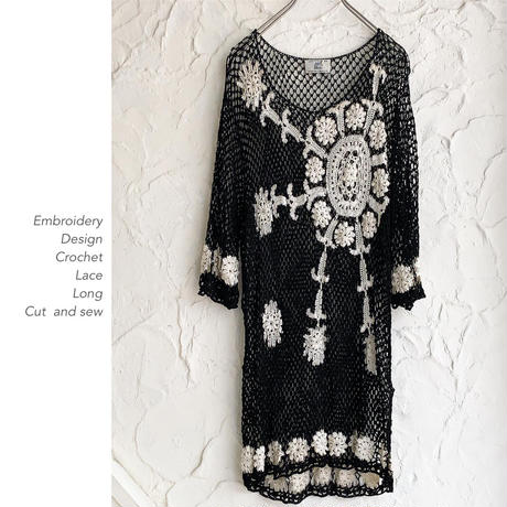 Embroidery Design Crochet Laceカットソー