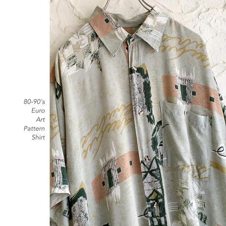 80-90's Euro Patternシャツ