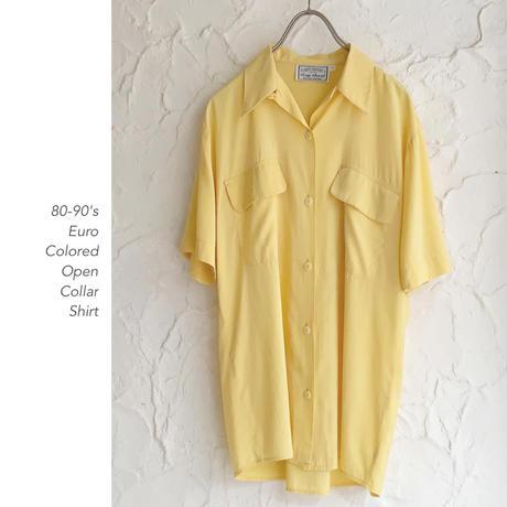 80-90's Euro オープンカラーシャツ