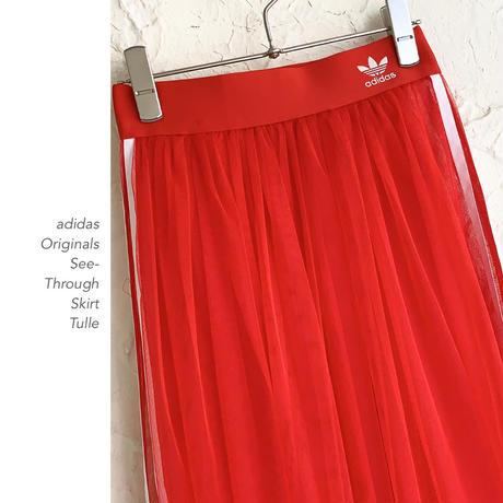 adidas see-through チュールスカート