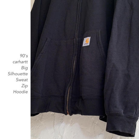 90's carhartt Big Silhouette Zipフーディー