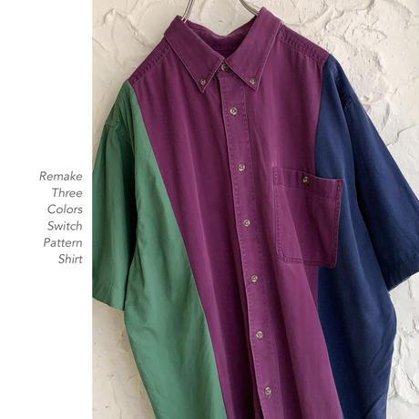 Remake 3colors 切替シャツ