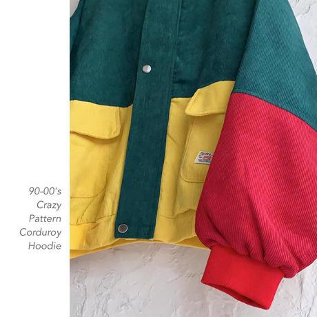90-00's Crazy Pattern Corduroy フーディー