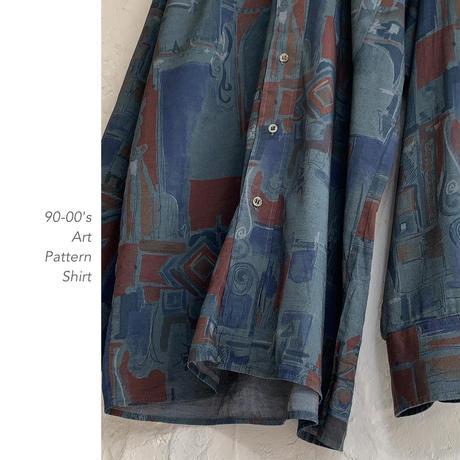 90-00's Art Pattern シャツ