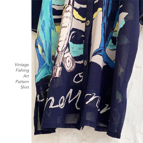 Vintage Fish Patternシャツ