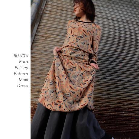 Vintage Paisley Patternワンピース