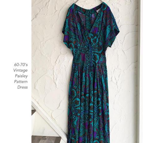 60-70's Paisley Patternワンピース