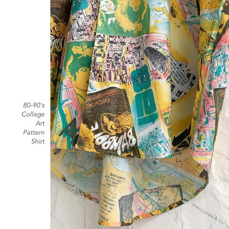 80-90's Collage Designシャツ