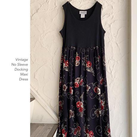 Vintage No Sleeve マキシワンピース