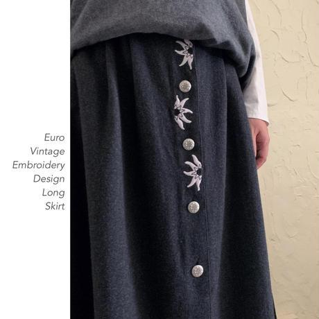 Euro Vintage Embroidery ロングスカート