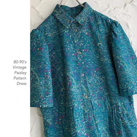 80-90's Paisley Patternワンピース