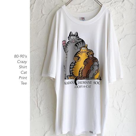80-90's Crazy Shirt 猫Tee