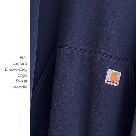 90's carhartt Embroidery Logoフーディー