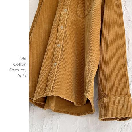 Old Cotton Corduroyシャツ